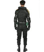 XCOSER Judge Dredd Costume Black PU Leather Uniform Cosplay Costume - $185.00