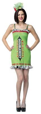 Wrigley's Gum Double Mint Womens Costume Dress Adult Halloween SZ 4-10 GC3871