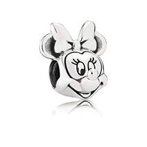 Pandora Disney Minnie Portrait Silver Charm 791587 - $37.87