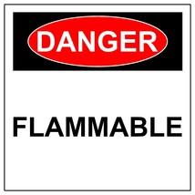 Danger Flammable Sign, Aluminum Metal Safety Warning UV Print Hazard Sign - $34.67+