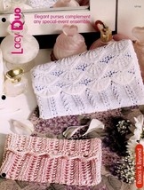 Lacy Duo 2 Purses Knitting PATTERN/INSTRUCTIONS Leaflet - $1.77
