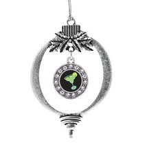 Inspired Silver Margarita Lovers Circle Holiday Decoration Christmas Tree Orname - $14.69
