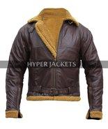 B3 Ginger Aviator Shearling Flying Pilot Real Sheepskin Bomber Leather Jacket - $124.00 - $166.00