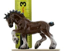 Hagen Renaker Miniature Draft Horse on Base Ceramic Figurine image 2