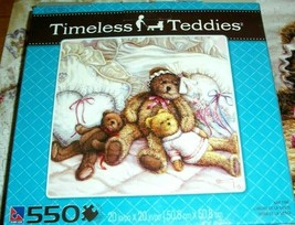 Jigsaw Puzzle 550 Pieces Teddy Bears Nap Sleepy Time Family Project None... - $10.88