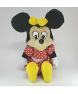 VINTAGE DISNEY KNICKERBOCKER MINNIE MOUSE STUFFED ANIMAL PLUSH TOY RED D... - $55.17