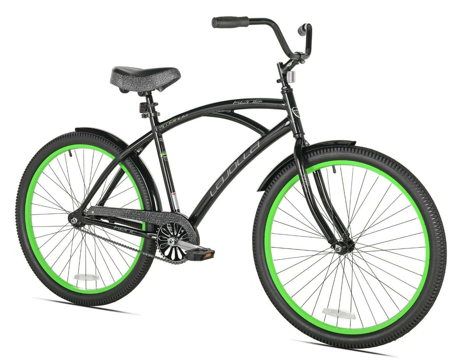 "Kent 26"" La Jolla Cruiser Men's Bike, Black/Green Free fast shipping new - $332.50"
