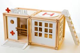 McWoody Hospital Set 70  pcs,Wooden Magnetic Building Blocks,Doll House - $65.00