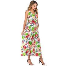 Maternity's Dress V Neck Floral Print Long Slip Dress image 3