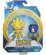 Sonic the Hedgehog  SUPER SONIC (WAVE 2) ACTION FIGURE w/BENDABLE ARMS &... - $29.99