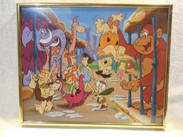 "Flintstones Framed Picture Flintstone and Rubbles at Zoo 11"" x 9"" - $24.95"