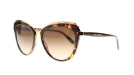Dolce Gabbana Femme Lunettes de Soleil DG4304 50213 Havane or,Lentille Dégradée - $175.41