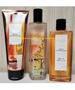 Merci Rose Champagne Bath and Body Works Fragrance Mist Body Cream Shower Gel - $80.00