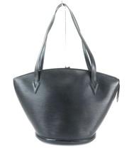 Auth LOUIS VUITTON Saint Jacques Large Black Epi Leather Shoulder Bag #32262 - $385.00