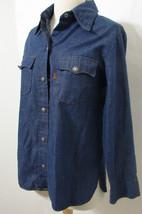 Vintage LEVIS Ladies Long Sleeve Denim Shirt Snap Button USA Paper Wash Tag - $224.99
