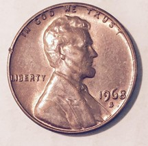 1968-S  S / S  R.P.M.  LINCOLN CENT (MAJOR ERROR)  NICE COIN  #209 - $43.20