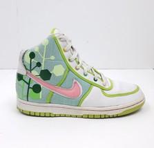 Nike White/Green/Pink Vandal High Sneakers 317038-161: Sz 5Y, 6.5W - $49.34