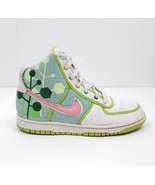 Nike White/Green/Pink Vandal High Sneakers 317038-161: Sz 5Y, 6.5W - $49.34