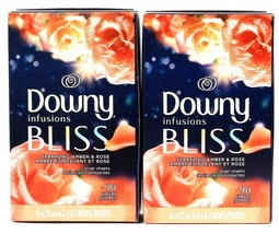 2 Boxes Downy Infusions Bliss Sparkling Amber & Rose 90 Ct Dryer Sheets - $27.99