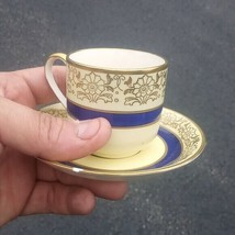 Johnson Brothers Pareek small Cup & Saucer Colorful Flowers Vintage - $31.83