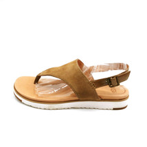 Ugg Womans Thong Ankle Strap Sandal Tan Suede Cushioned Insole Sz 8 M  - $49.49