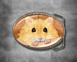 Belt Buckle Accessory Hamster 23 funny art painting by L.Dumas - $19.99