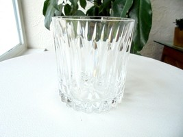"Cris D'Arques Classic Pattern Old Fashioned Rocks Glass 3 3/4"" Tall - $18.80"