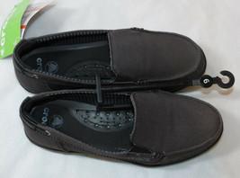 Mujer Crocs Ajuste Estándar Walu Lona Mocasín Deslizar Zapato con 6 Barc... - $29.31