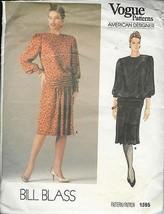 Vogue Bill Blass 10 Dress 1985 - $17.99