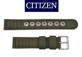 Genuine Citizen Eco-Drive Men's  BM8180-03E Green Canvas 18mm Watch Ban... - $50.95