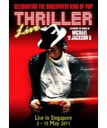 "Michael Jackson 2011 ""Thriller Live"" in Singapore Reproduction Stand-Up ... - $16.99"