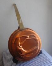 PRETZEL Vintage Handmade Greek Embossed COPPER  Pan w Long handle Mold Tin Lined image 1