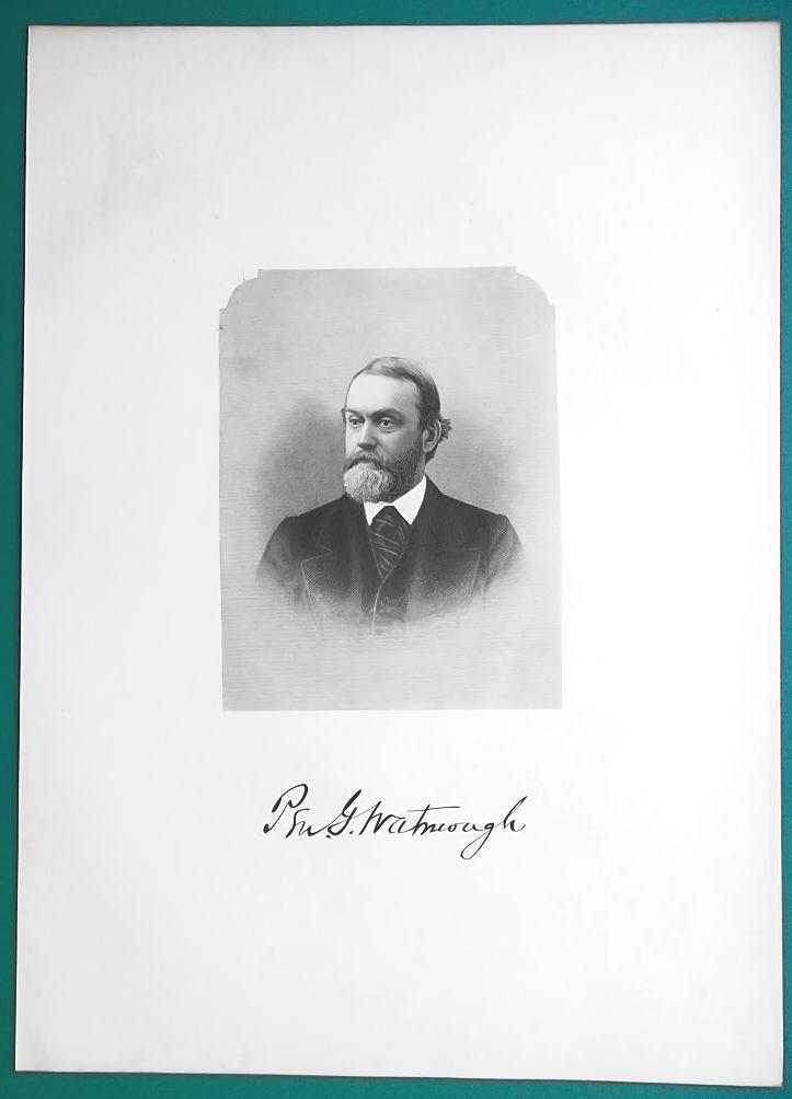 PENDLETON  WATMOUGH Ohio US Navy Commander  - 1881 Superb Portrait Print