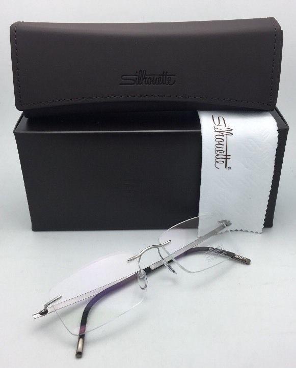 SILHOUETTE Eyeglasses HINGE C-2 5470 60 6052 23K Gold Plated Silver-Black Frame