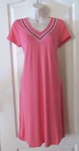 Design History S/S Embroidered V-neck Dress Coral  Women's Sz S-XXL NWT ... - $25.48