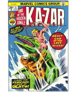 Ka-Zar Lord of the Hidden Jungle Comic Book #6 Marvel Comics 1974 FINE+ - $6.66