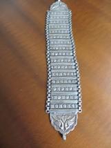 "Antique Ethnic Tribal old 925 silver handmade Panel Bird's Repousse bracelet 8"" - $269.99"