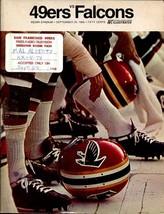 S.F. 49ERS VS ATLANTA FALCONS 9/29/1968 PRGM-NFL VG - $55.87