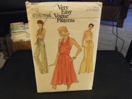 Vogue 9831 Misses Halter Dresses & Jumpsuit Pattern - Size 10 Bust 32 1/2 - $20.98