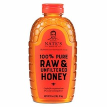 Nature Nate's 100% Pure Raw & Unfiltered Honey 32 oz. Squeeze Bottle All... - $14.87