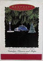 Accessories for Nostalgic Houses and Shops 1995 Set of 3 Hallmark Keepsa... - $7.92