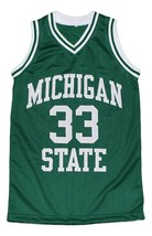 Magic Johnson #33 Michigan Basketball Jersey Green Any Size image 4