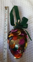 Vintage Pine cone Christmas xmas colorful tree holiday trer Ornament Pre-owned - $15.83