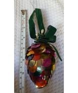 Vintage Pine cone Christmas xmas colorful tree holiday trer Ornament Pre... - $14.89