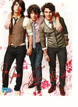 Jonas Brothers teen magazine pinup clipping vests and ties M magazine Rock it