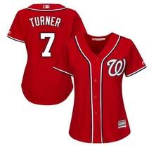 Women's Washington Nationals #7 Trea Turner Jersey Baseball MLB Jerseys Red - $44.99