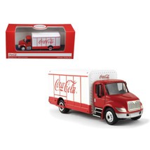 Coca-Cola Beverage Truck Red and White 1/87 Diecast Model by Motorcity C... - $24.54