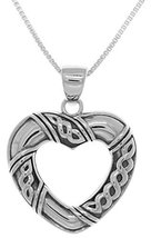 Jewelry Trends Sterling Silver Celtic Heart Shaped Pendant on 22 Inch Bo... - $55.99