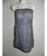 Davids Bridal Dress Plus Size 20 Strapless Mercury Gray Lace Bridesmaid ... - $72.57