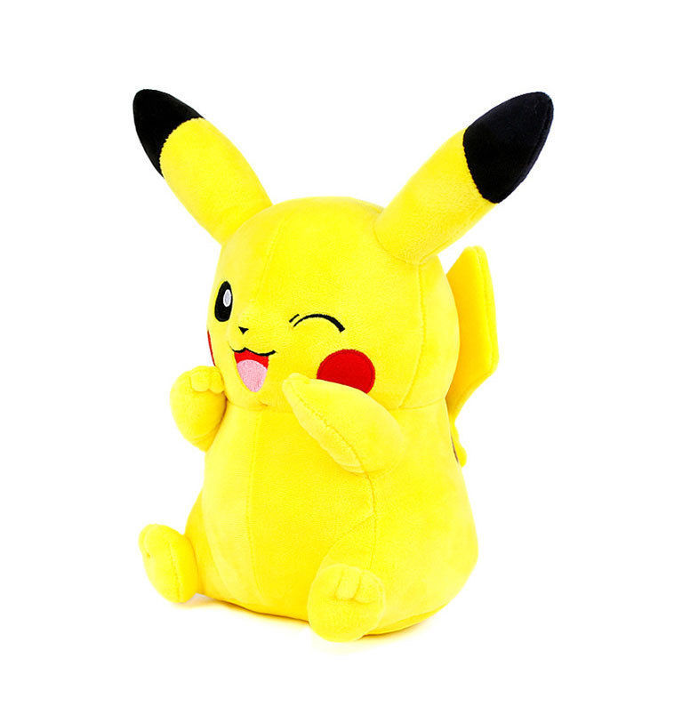 New Pokemon Winking Pikachu Soft Plush Doll 30cm Toy Cushion Pillow Gift Cute XY